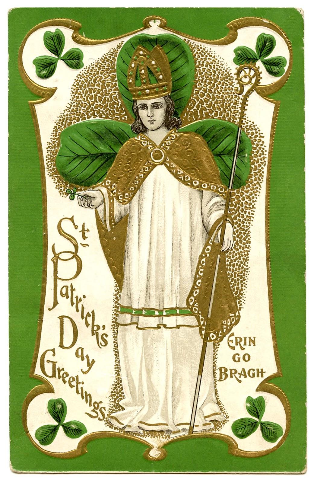 Vintage St Patricks Day Clip Art St Pat The Graphics
