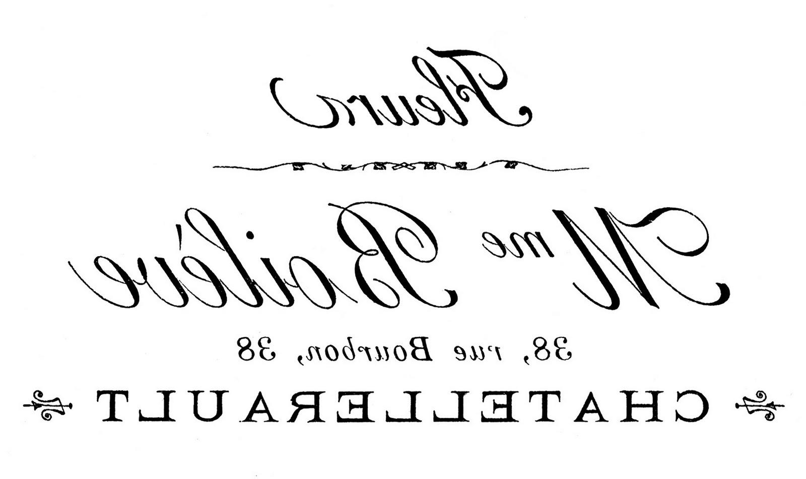 Transfer Printable U2013 French Typography U2013 Flower Seller