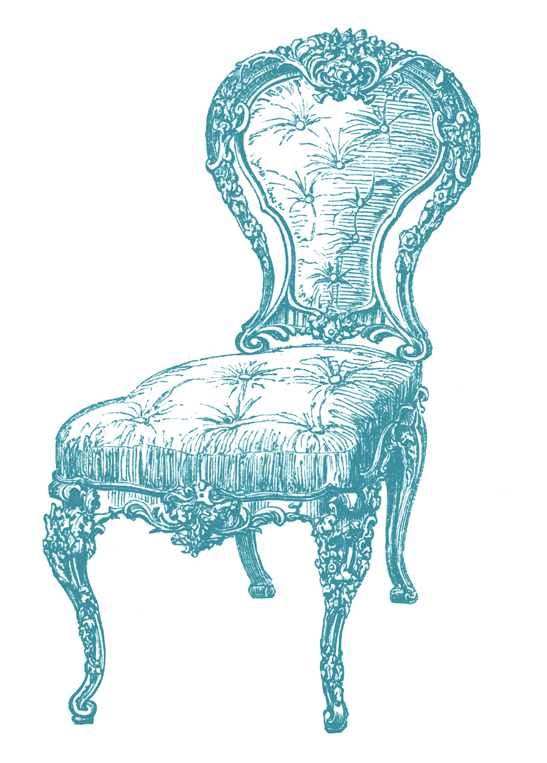 Vintage Clip Art Frenchy Chair 4 Options The