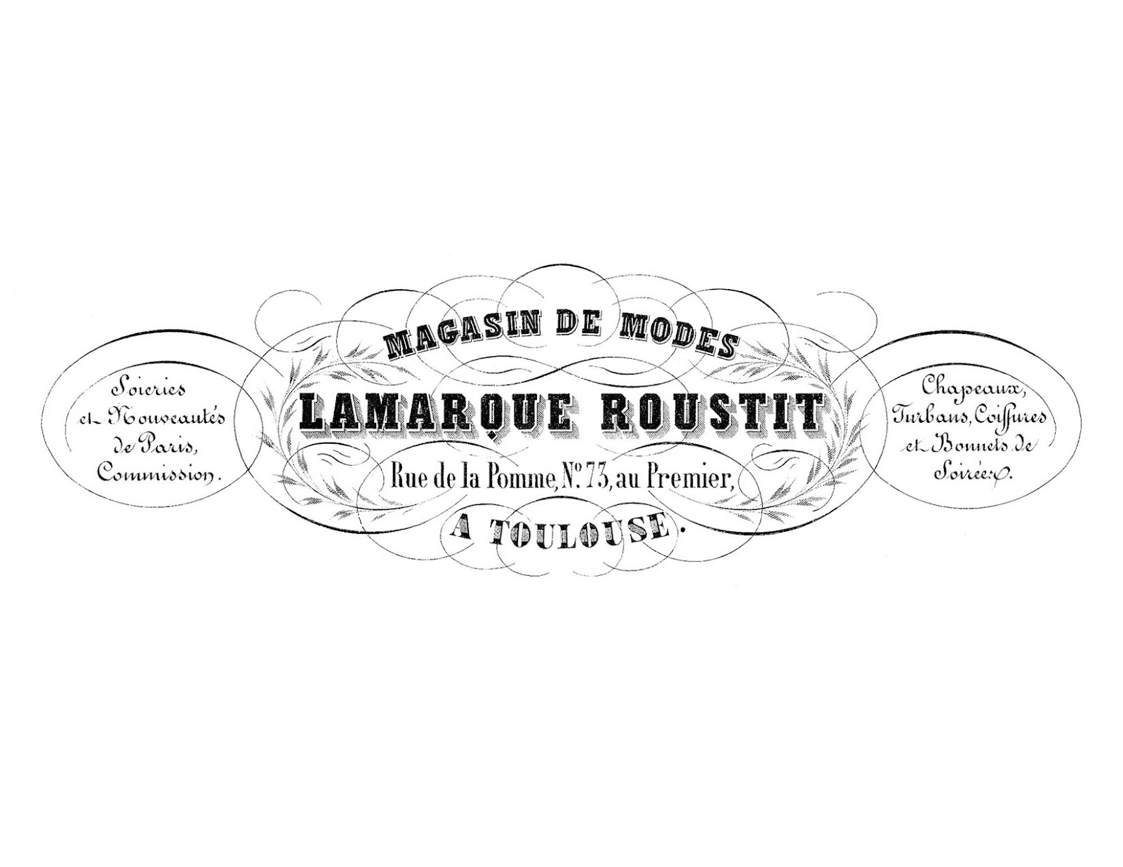french transfer printable ornate invoice typography the