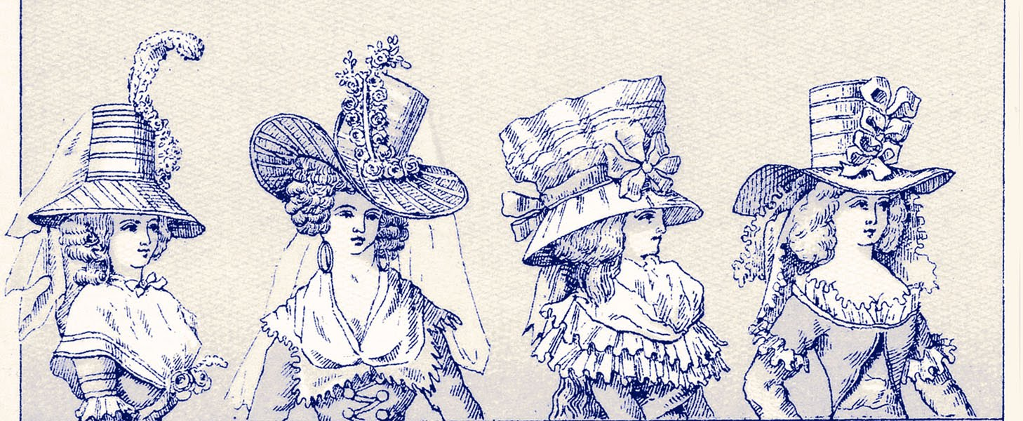 Vintage Graphic Images – French Hat Ladies – Costumes