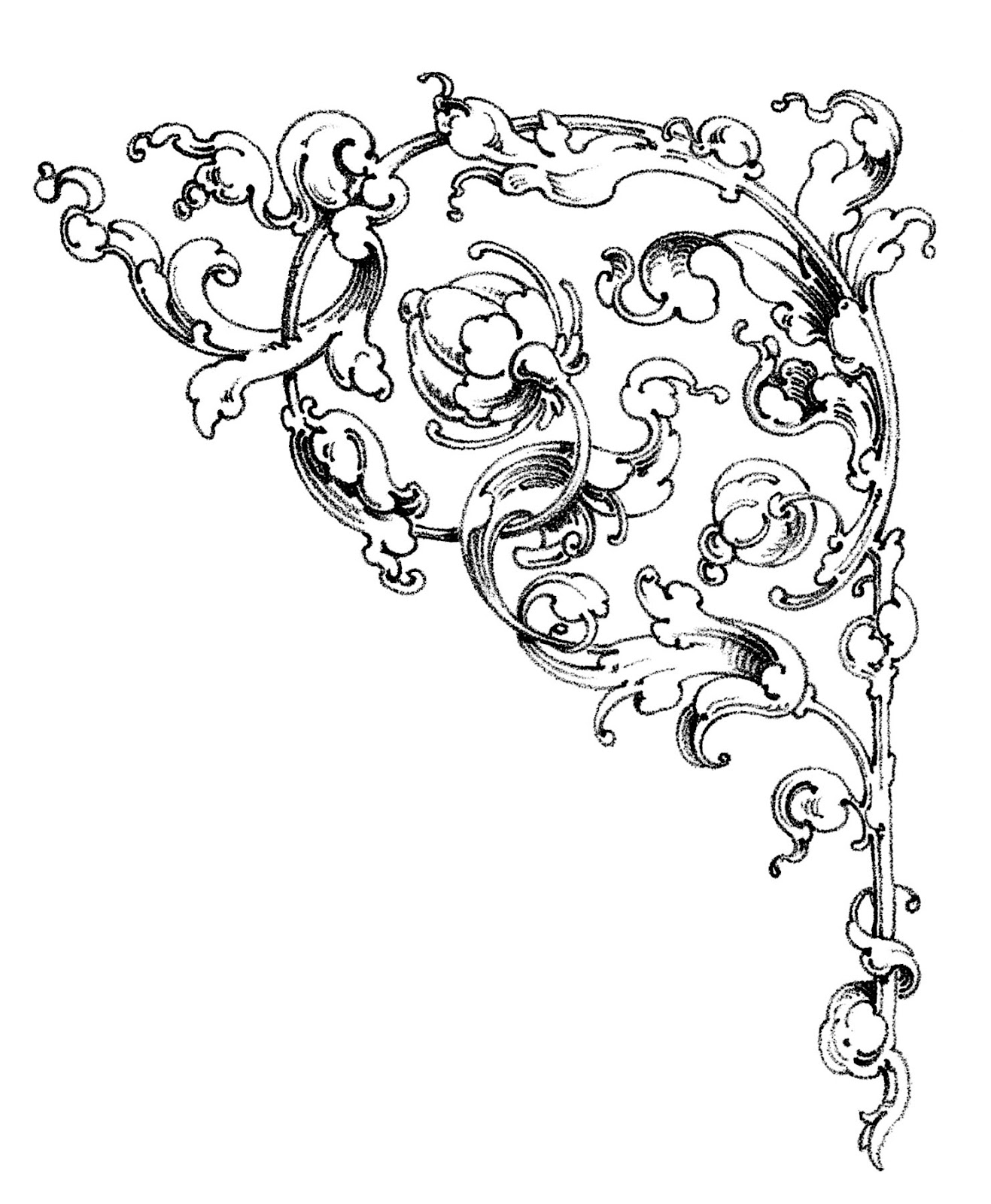 Wedding Flower Line Drawing : Dreamy romantic scrolls wedding clip art the graphics