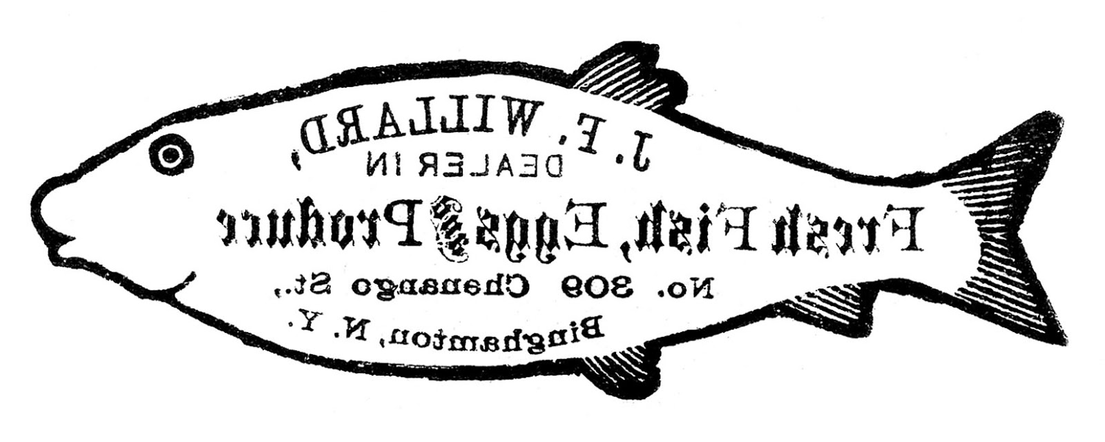 image transfer printable fish sign the graphics fairy