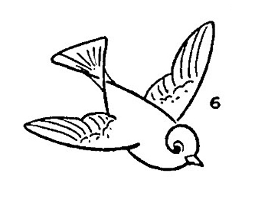 Simple bird drawing flying - photo#19