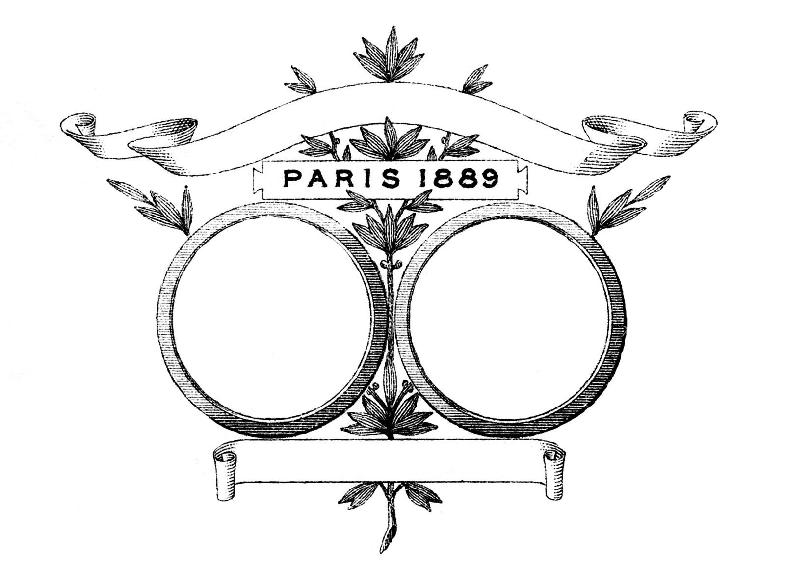 Vintage Clip Art - Paris Frame - 186.1KB