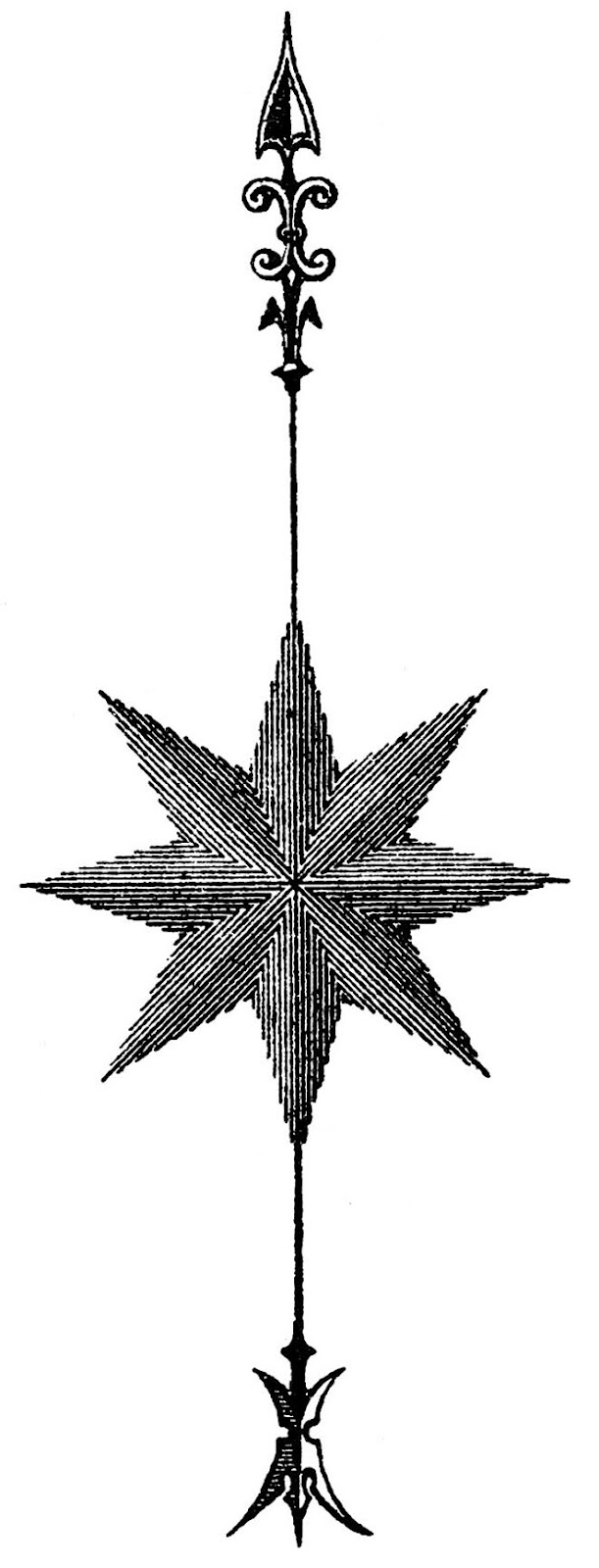vintage star compass