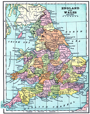 Vintage Printable - Map of England and Wales - The Graphics Fairy