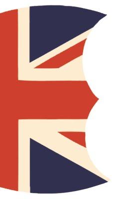 Top half of Union Jack Shield Printable