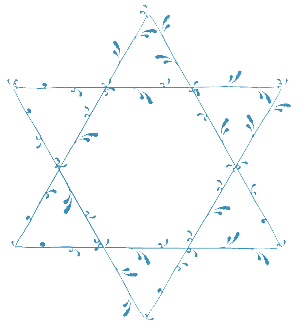 vintage blue frames and stars hanukkah the graphics fairy