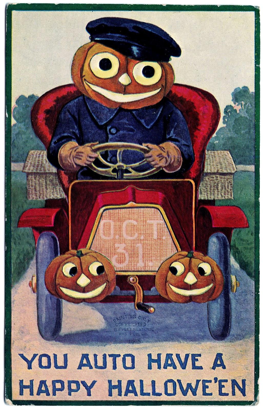 halloween clip art vintage - photo #45