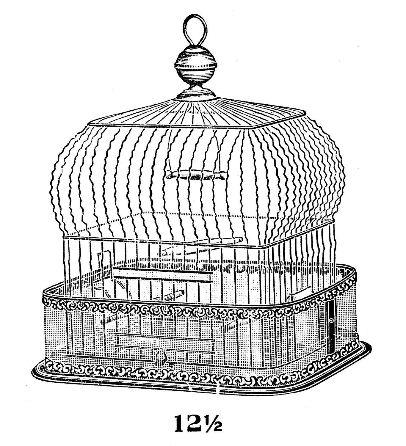 Antique bird cage drawing - photo#13