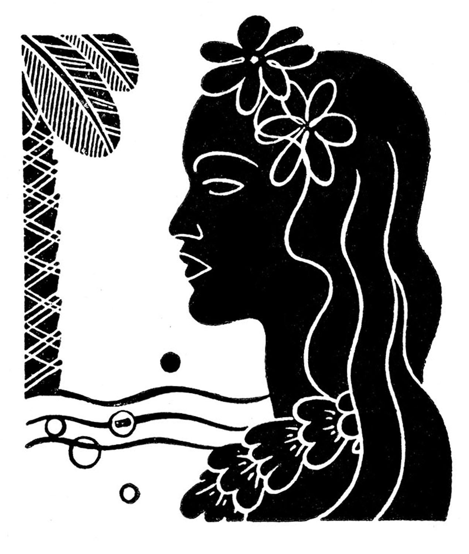 Retro Clip Art - Hawaiian Ladies - Dancers - The Graphics Fairy