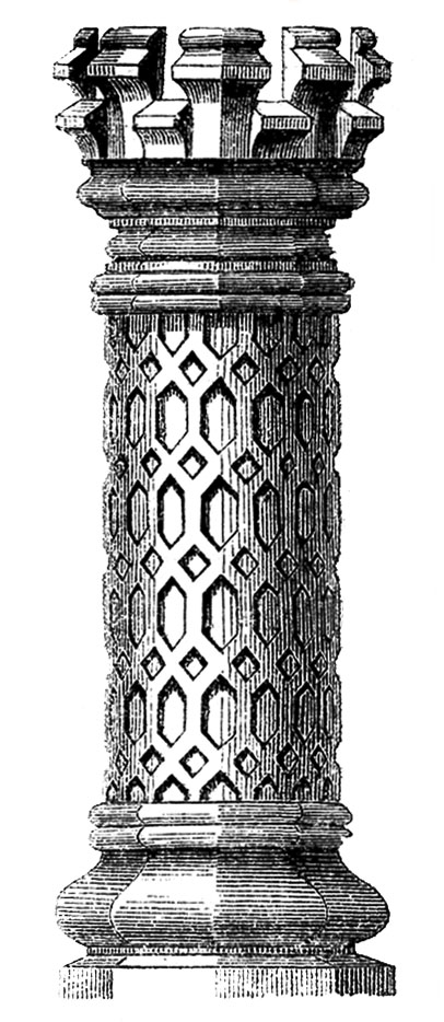 Vintage Architecture Clip Art - 3 Tudor Chimney Pots - The ...