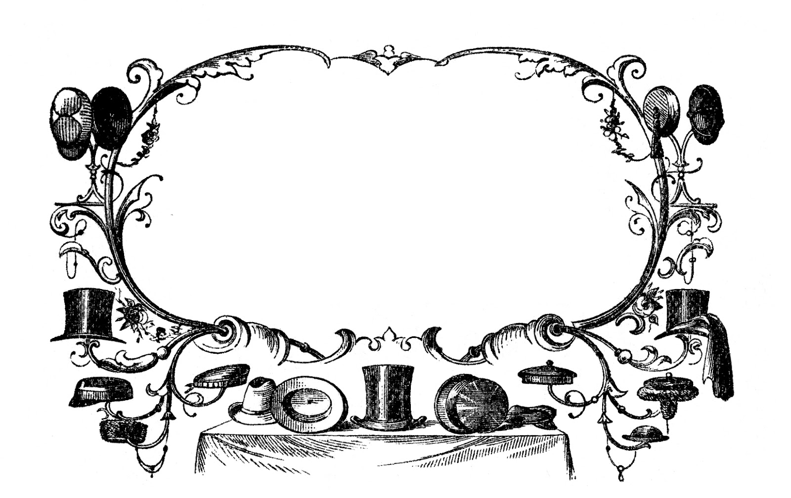 vintage hat clipart - photo #37