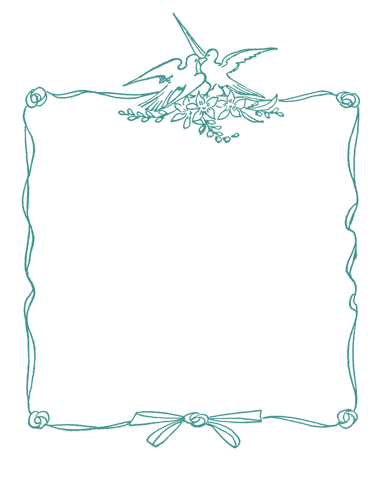 Wedding Graphic Frames With Doves The Graphics Fairy