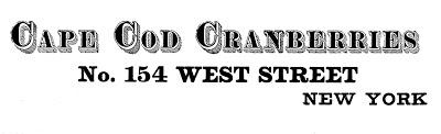 Typography Transfer Printable Cape Cod Cranberries