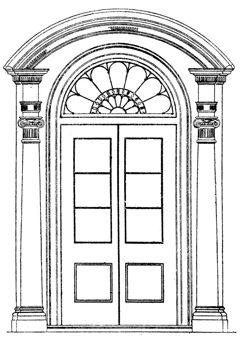Раскраска дверей своими руками 67
