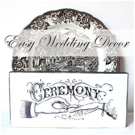Make Typography Wedding Signs DIY