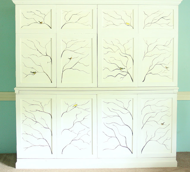 decorative painted cabinet
