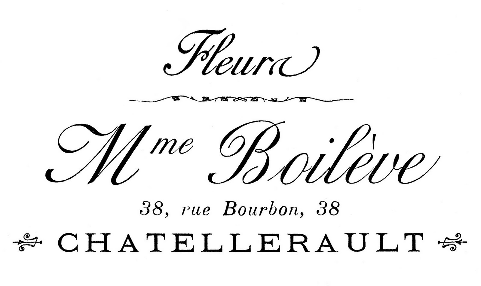 Transfer Printable French Typography Flower Seller