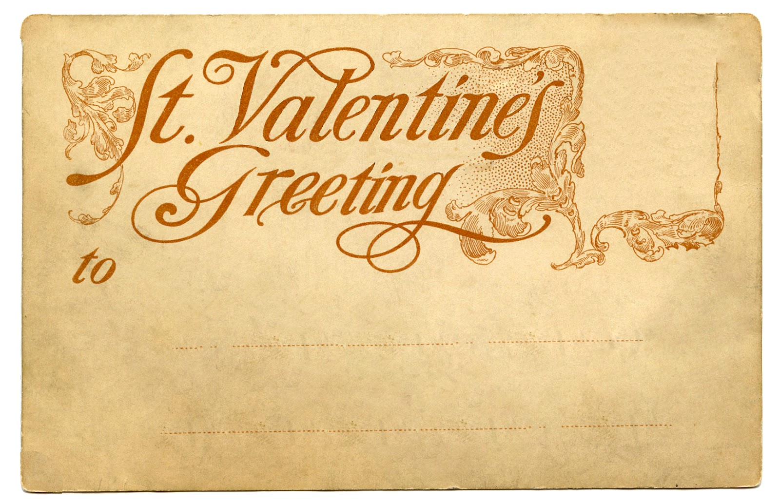 Vintage Ephemera Valentines Day Postcard Back The Graphics Fairy – Valentines Day Post Cards