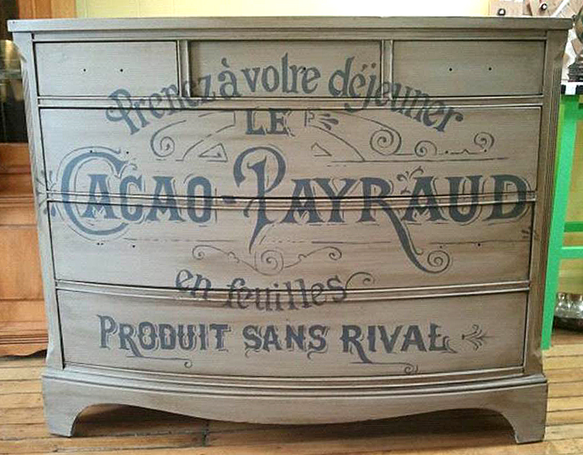 chalk paint furniture ideasFrench Typography Dresser with Chalk Paint  The Graphics Fairy