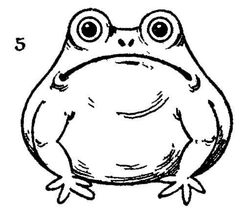vintage kids printable - draw some frogs