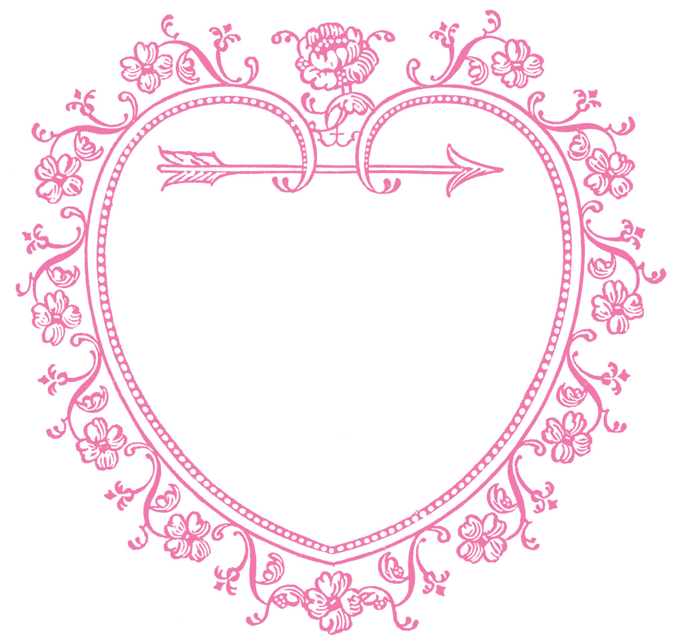 Vintage Valentine S Day Clip Art Sweetest Heart Frame The