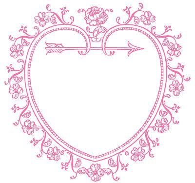 Vintage Valentine Image Heart Frame