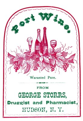 Vintage Clip Art - Port Wine Label - The Graphics Fairy