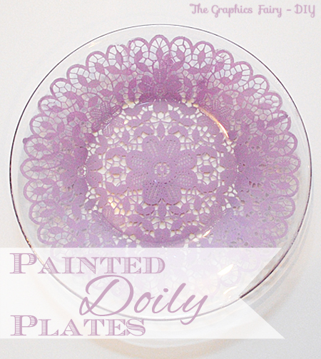 Make Painted Doily Plates