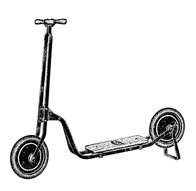 Vintage Scooter Clipart