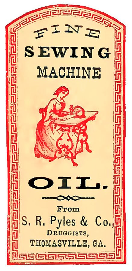 Vintage label image sewing machine the graphics fairy for Classic house labels