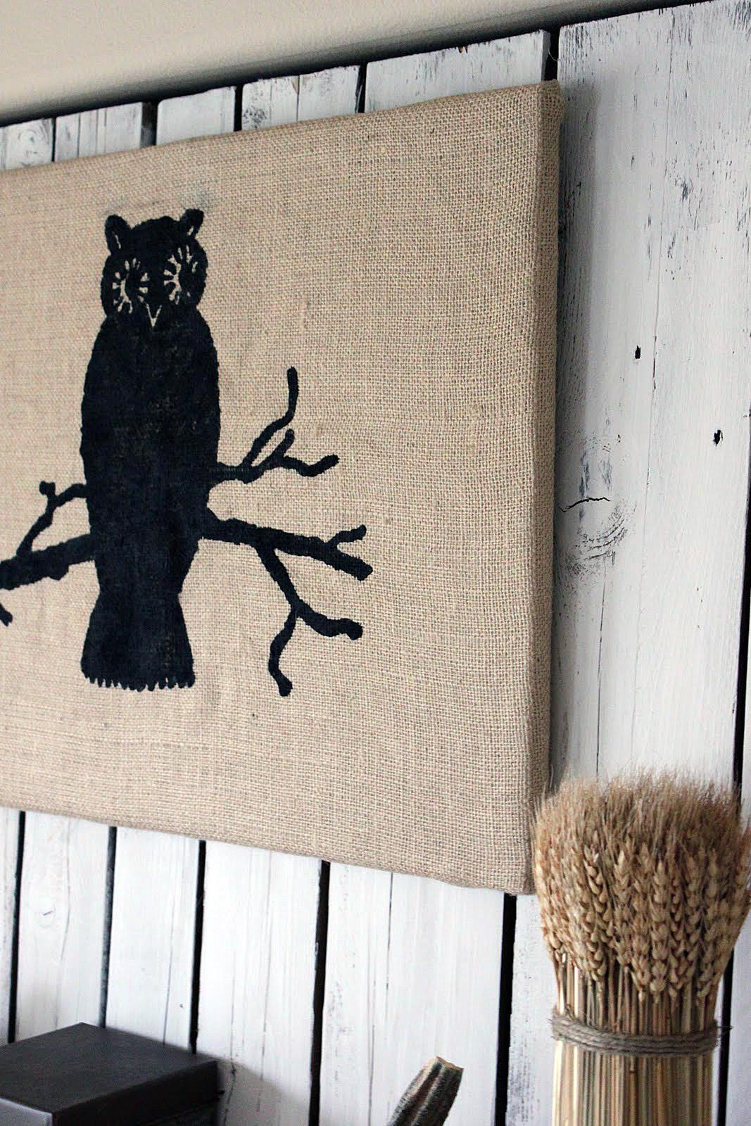 Burlap Owl Wall Art U2013 Halloween