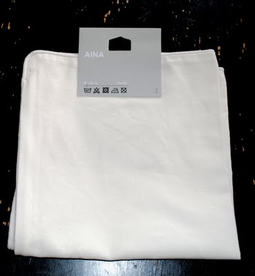 Blank Ikea White Pillow covers