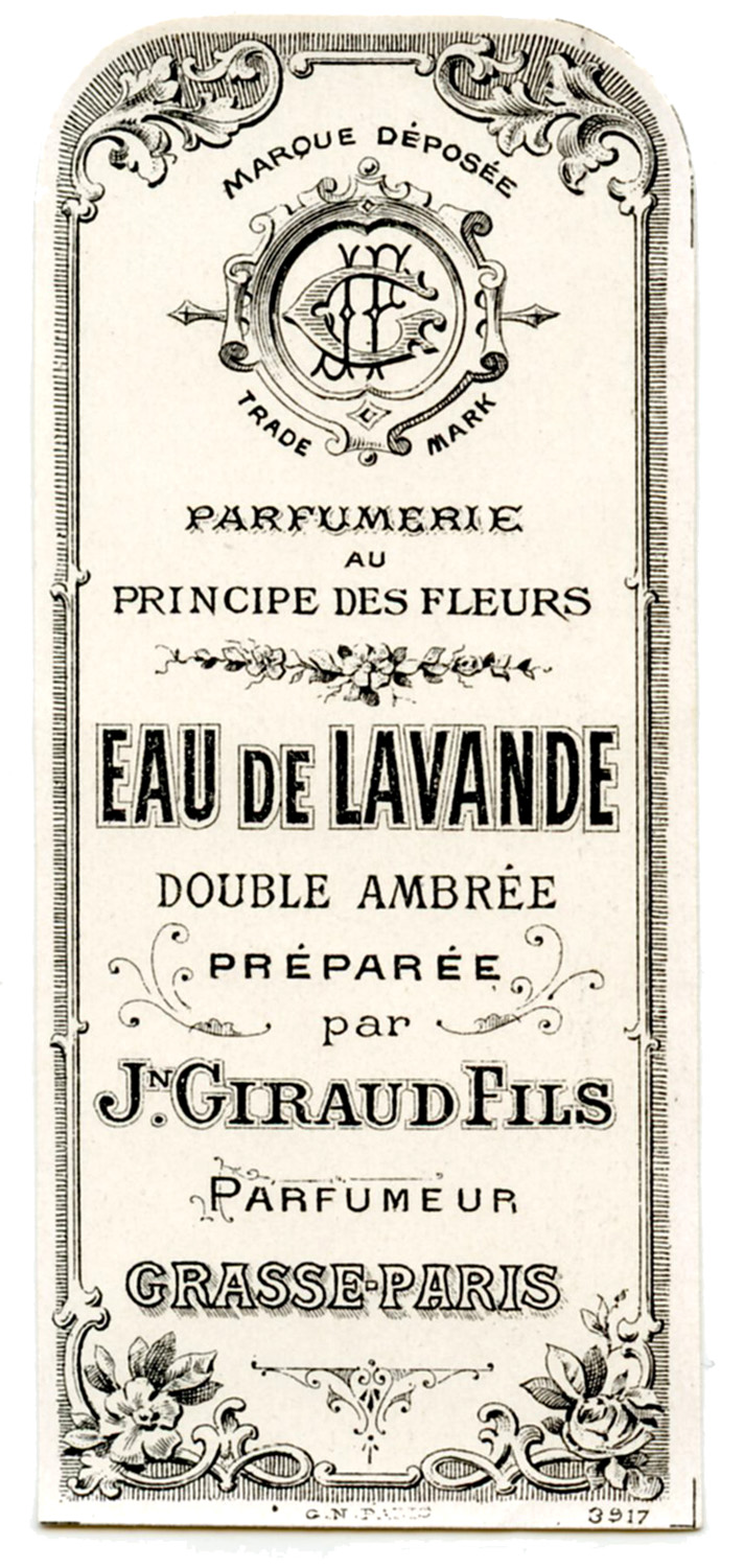 Old Label - French Perfume - The Graphics Fairy