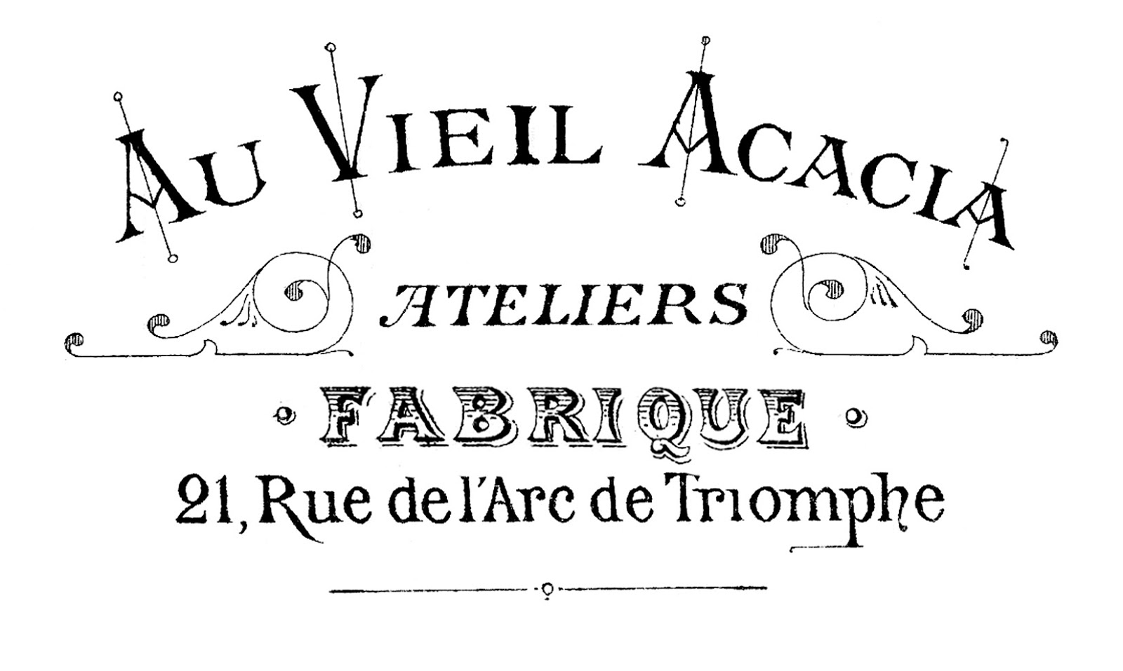 Printable Image Transfer Fancy French Typography The