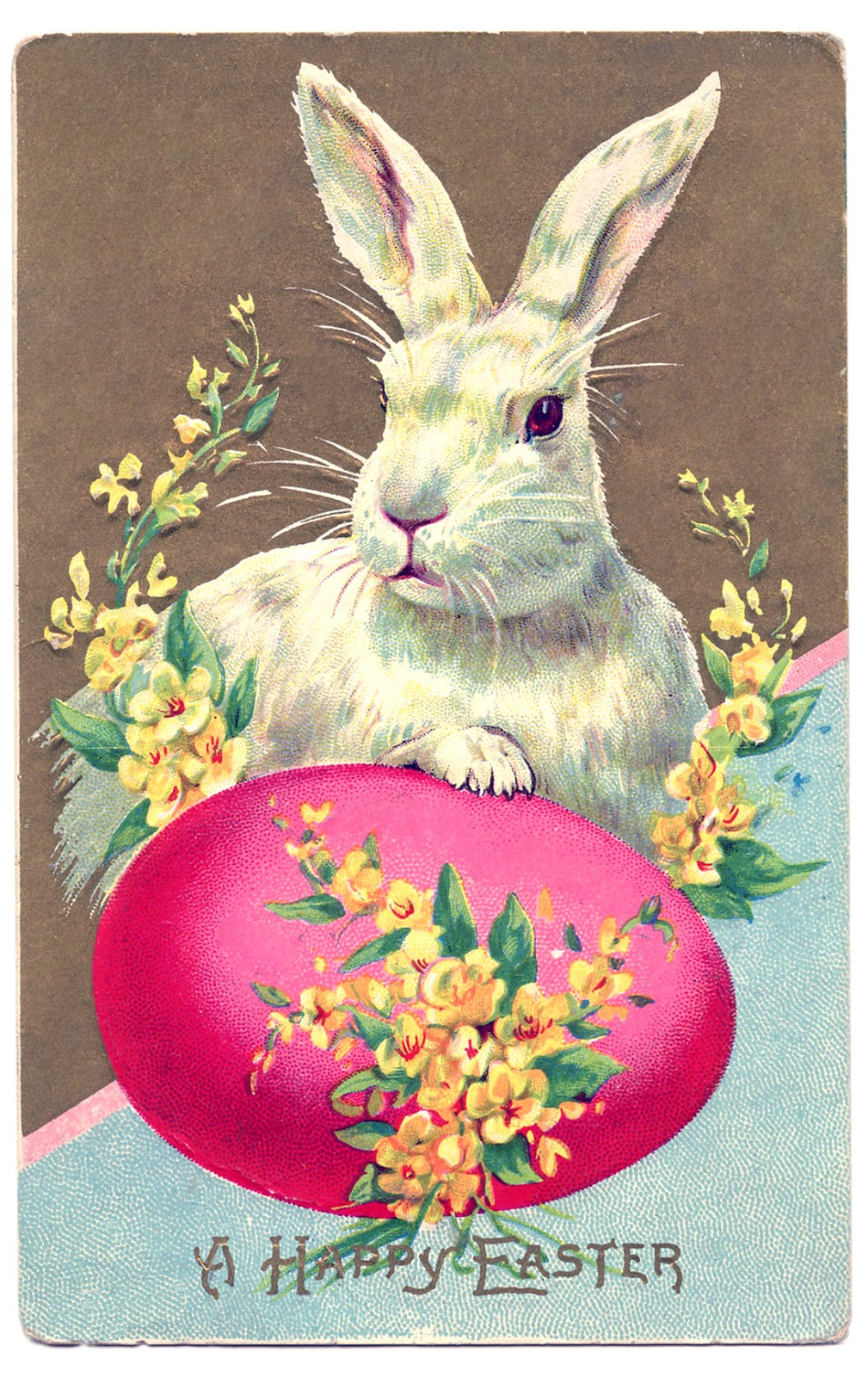 vintage easter clip art big bunny with egg the graphics fairy