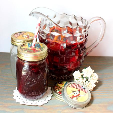Patriotic Mason Jar Lids Craft Project 4th of July Tutorial
