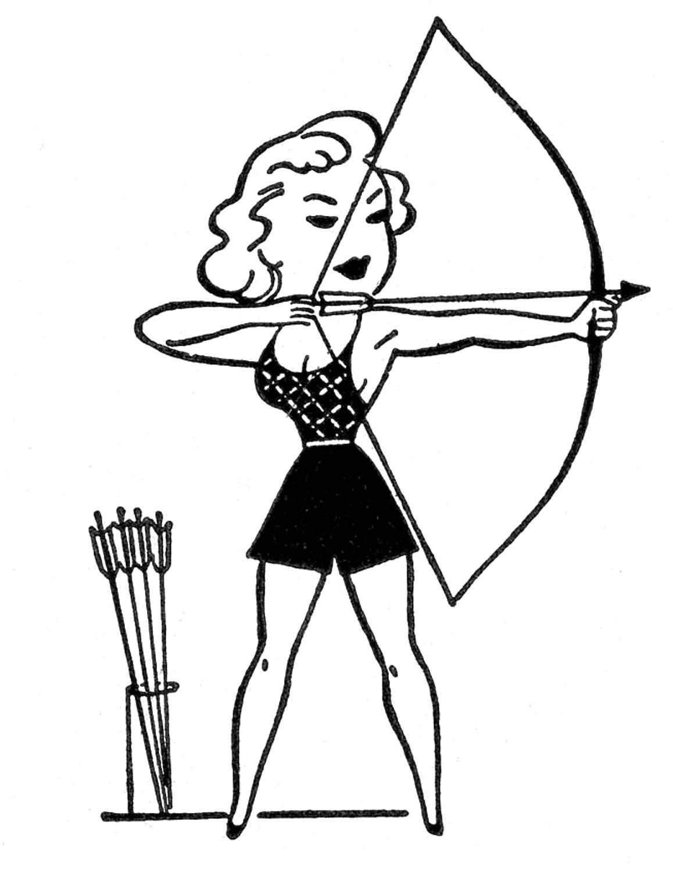 Retro Clip Art - Summer Sports - Camp - The Graphics Fairy