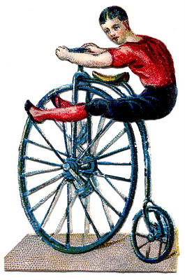 Vintage Graphic - Circus Acrobat on Velocipede // The Graphics Fairy