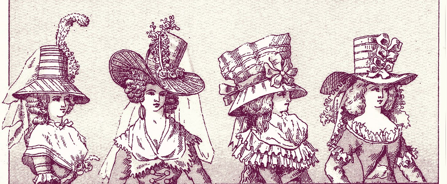 Vintage Graphic Images French Hat Ladies Costumes