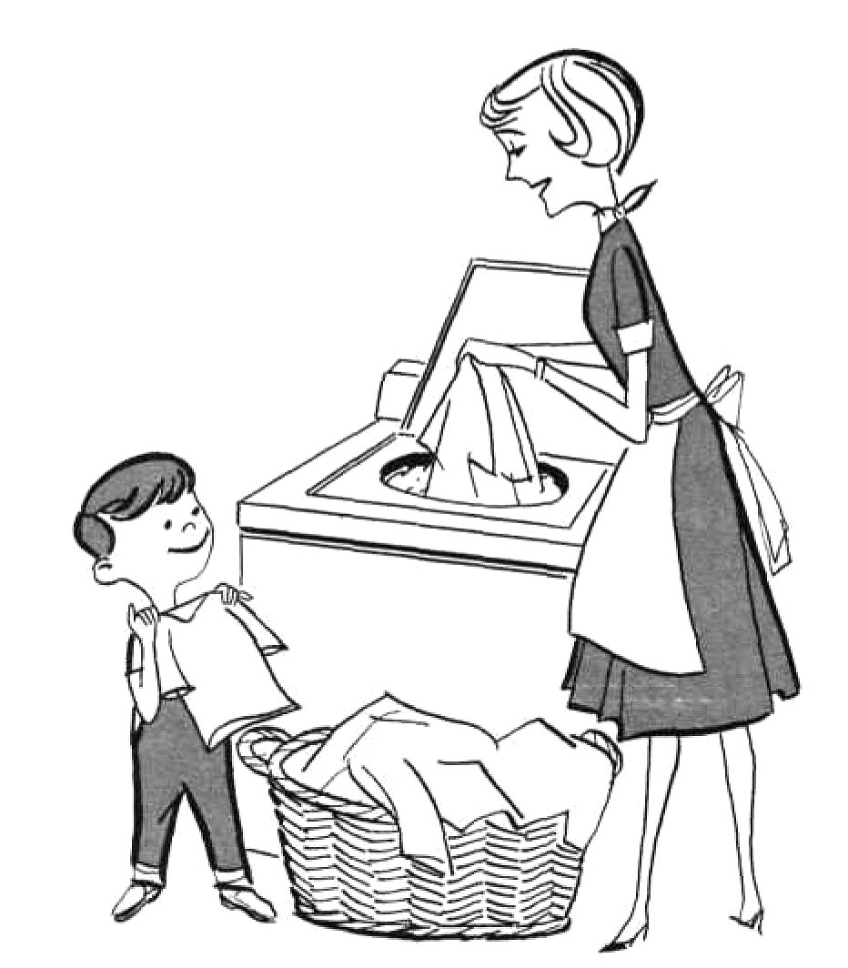Free Coloring Pages Of Kids And Chores