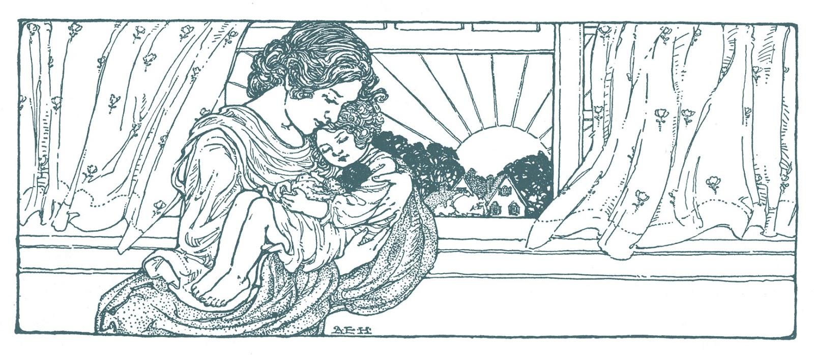 Vintage Mother's Day Clip Art