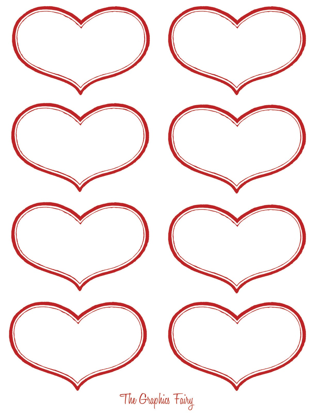 photo relating to Printable Valentine Hearts referred to as Traditional Valentine Printable - Antique Centre Labels - The