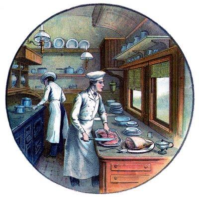 Vintage Image - Chefs Cooking - The Graphics Fairy