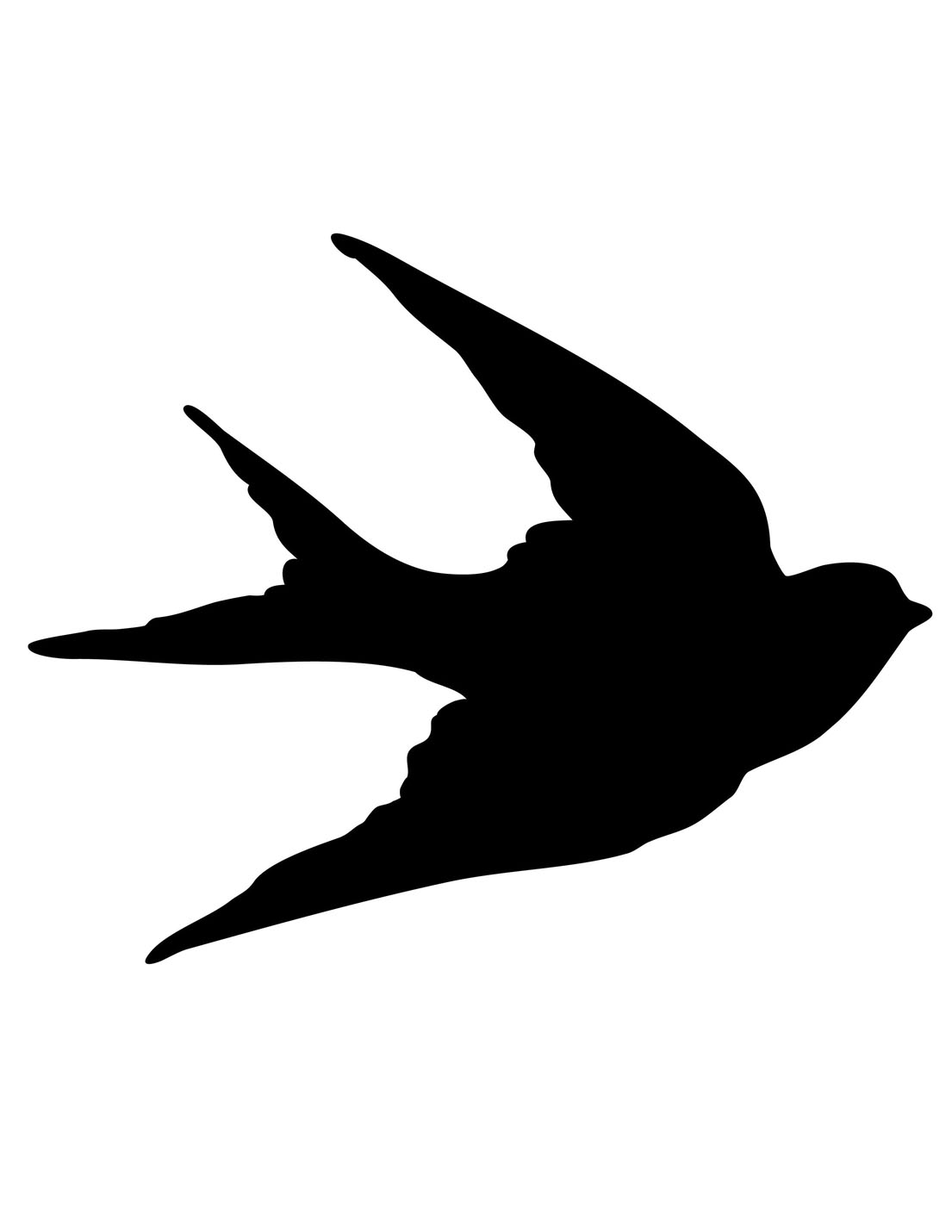Transfer Printables Bird Silhouettes Swallows The