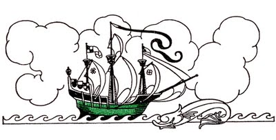 Vintage Clip Art - Pirate Ship // The Graphics Fairy
