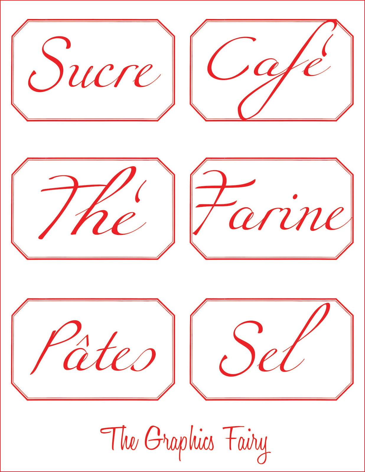 french printable canister labels the graphics fairy With canister labels printables