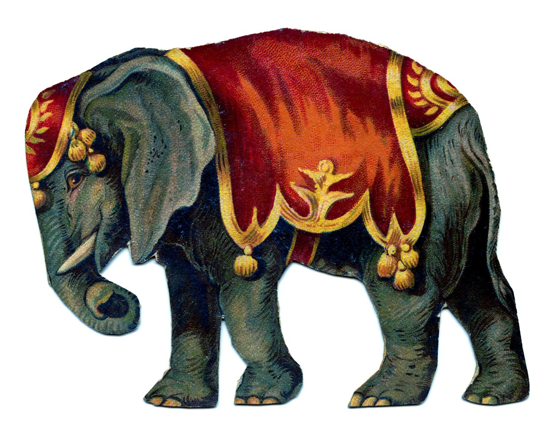 Vintage Image Circus Elephant